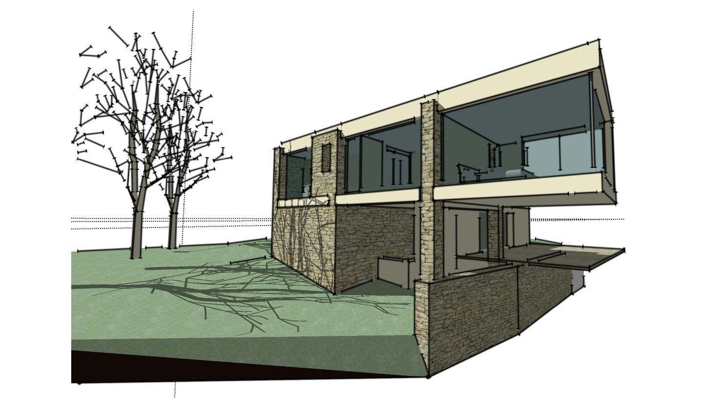 Dessin architecture contemporaine maison moderne for Dessin architecture maison