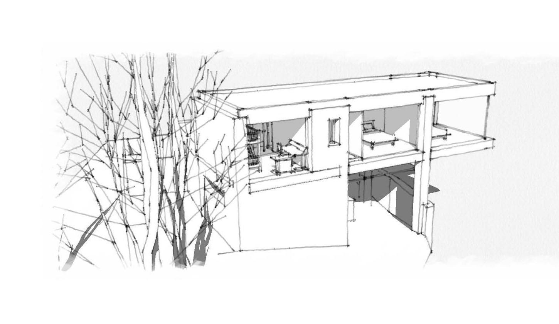 Portfolio Architecture Dessin D Extension Par Charlotte
